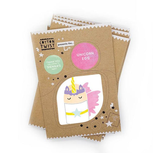Unicorn Egg Character craft kit by Cotton Twist.   Great for three years & upwards, children can use the cut outs & glue dots to create their pirate egg character. With everything you need included, this is a great activity for a festive Easter breakfast or any day of the year.