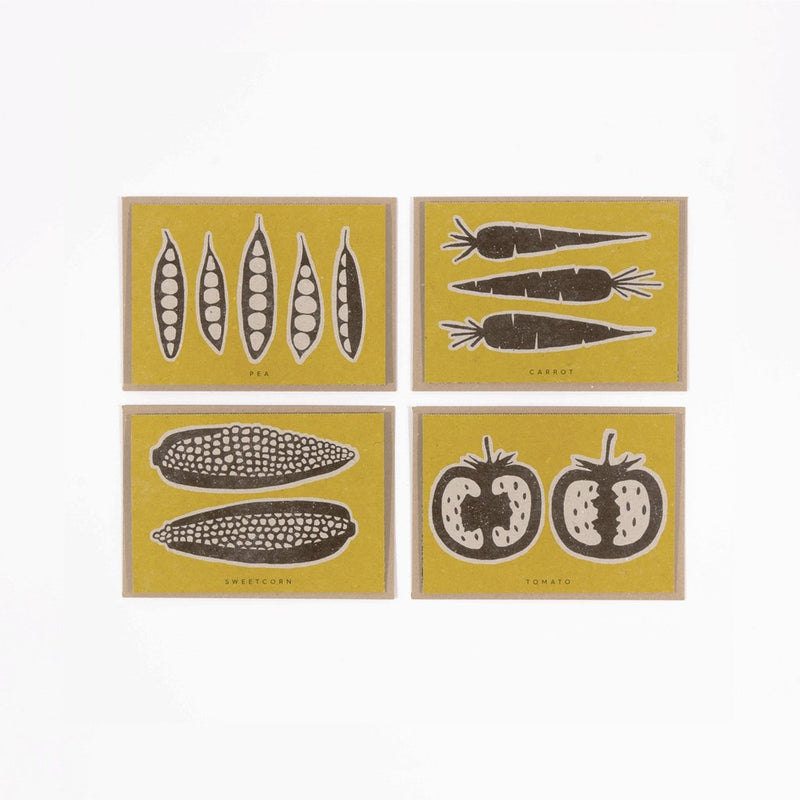Vegan/Veg Recipe Notecards designed by Studio Wald. Original notecards that leave the recipient with a more than just a letter, sold by Percy Langley