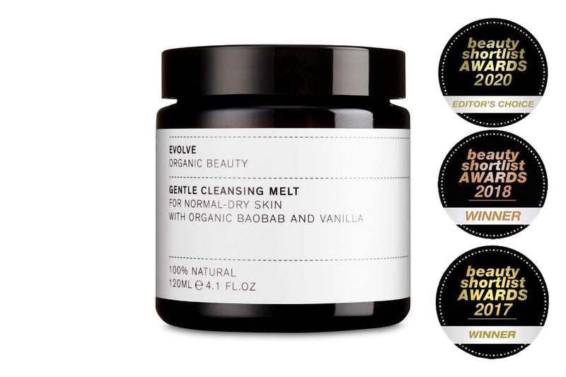 The luxurious cleansing balm by Evolve contains nourishing organic baobab oil that naturally soothes and hydrates skin.  Natural sugar extracts have a creamy consistency when combined with water that rinses away clean, leaving skin clean, calm and hydrated.