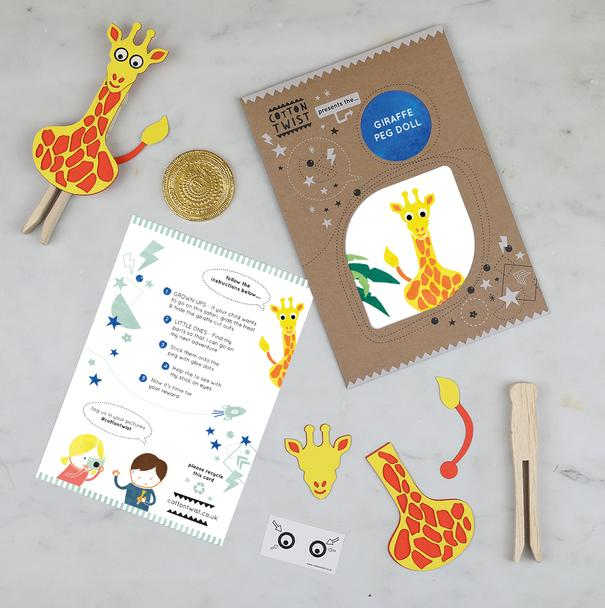 Make Your Own Giraffe Peg Doll Hunt
