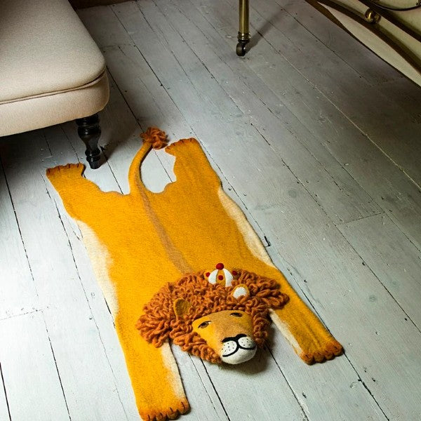 Lion Felt Rug by Sew Heart Felt