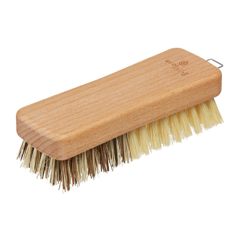 FSC® certified beech wood vegetable brush has two sides... a dark side, with hard natural union bristles for insensitive vegetables. Plus a gentle side with lighter tampico bristles for the sensitive vegetables to be gently cleaned.