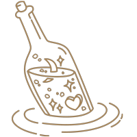 beusail message in a bottle icon