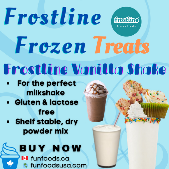 Frostline Vanilla Milk Shake Mix - Made in the USA (6 x 6lbs bags)