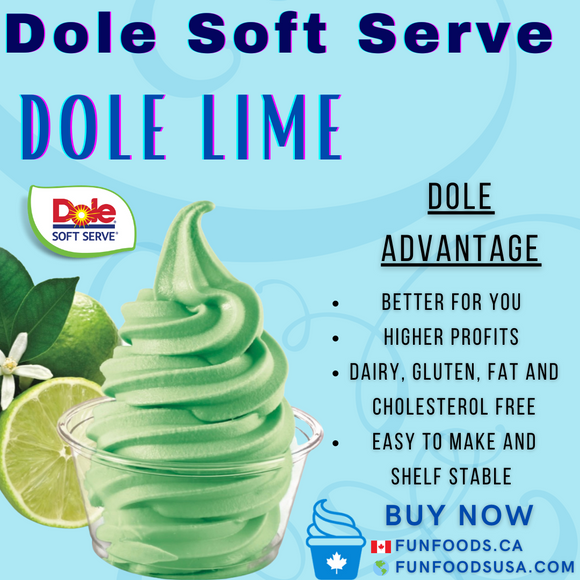 Dole Lime Soft Serve Mix - Case (4 X 4.4lb Bags)