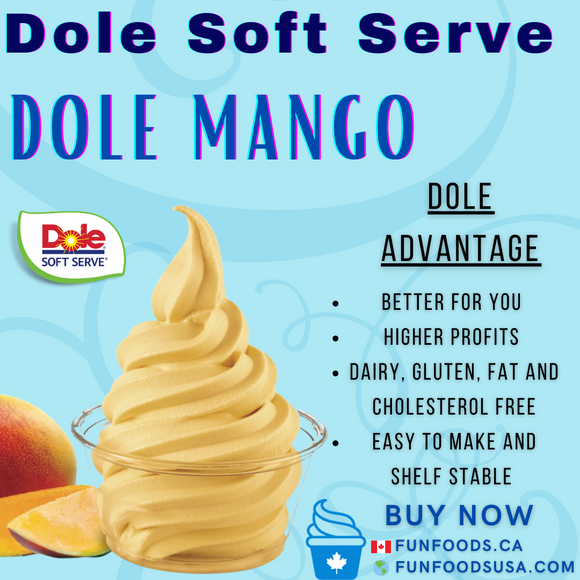 Dole Mango Soft Serve Mix - Case (4 X 4.4lb Bags)