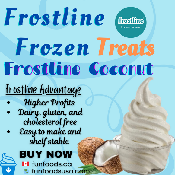 Frostline Coconut Soft Serve Ice Cream Mix - Made in the USA (6 x 6lbs bags)