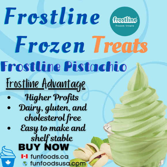 Frostline Pistachio Soft Serve Ice Cream Mix - Made in the USA (6 x 6lbs bags)
