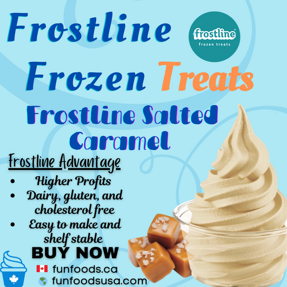 Frostline Salted Caramel Soft Serve Ice Cream Mix - Made in the USA
