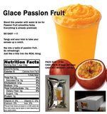 Glace Passion Fruit - Blend This powder with water & ice for passion fruit smoothie/boba. Everything is already premixed.