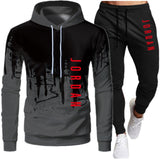 Casual Men Sets Kleidung Mode Trainingsanzug Casual Sportsuit Hoodies Sportswear Hooded Sweatshirt + Pant Pullover zweiteiliges Set