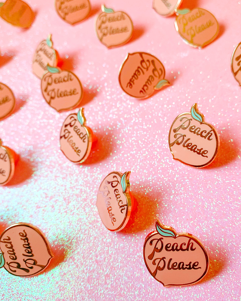Peach Please Pin