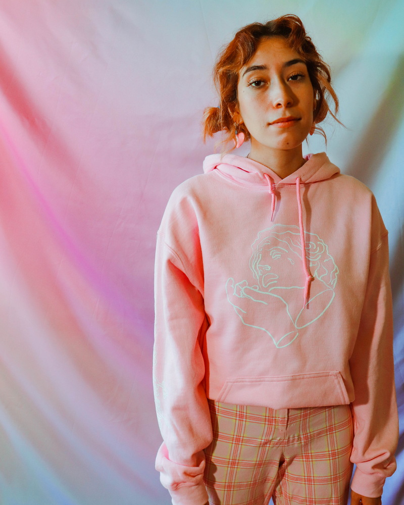 Crying is Cool Hoodie- Pink