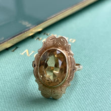 Load image into Gallery viewer, VINTAGE OVAL CITRINE RING