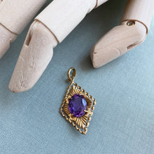 Load image into Gallery viewer, VINTAGE AMETHYST PENDANT