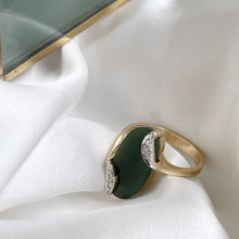 Load image into Gallery viewer, ART DECO STYLE JADE AND DIAMOND RING