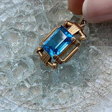 Load image into Gallery viewer, ART DECO STYLE TOPAZ PENDANT