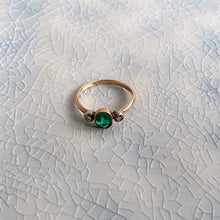 Load image into Gallery viewer, VICTORIAN  EMERALD & DIAMOND RING