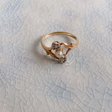 Load image into Gallery viewer, BELLE EPOQUE DIAMOND & PEARL RING
