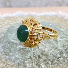 Load image into Gallery viewer, VINTAGE GOLD JADEITE RING