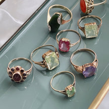 Load image into Gallery viewer, ANTIQUE STYLE  RING WITH  LIGHT GREEN RECTANGULAR-CUT SPINEL