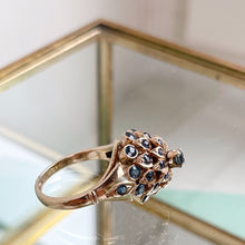 Load image into Gallery viewer, VINTAGE AQUAMARINE COCKTAIL RING
