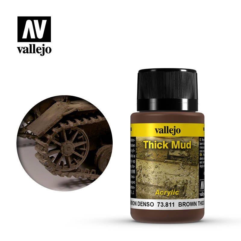 VAL73811 Weathering Effects - Brown Thick Mud (40ml)