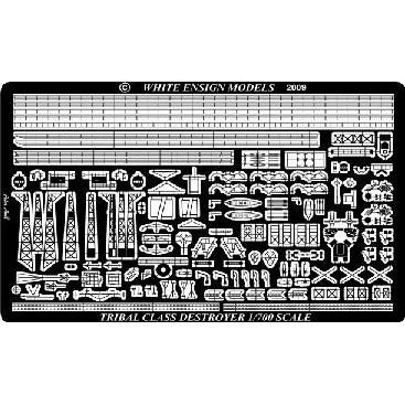 1/700 Tribal Class Destroyer detail set for Trumpeter Kit photo etch