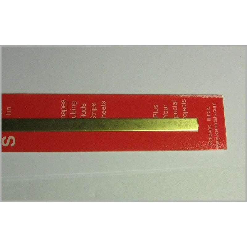 ".025 x 1/4"" Brass Strip"