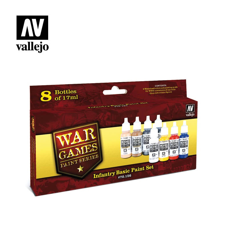 VAL70156 Infantry Basic Paint Set