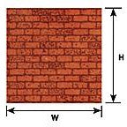 1/24 G scale Red Brick Sheet