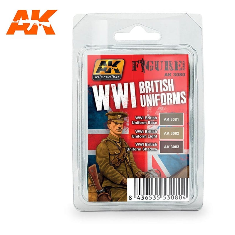 AK-3080 WW I British Uniforms Colors Set