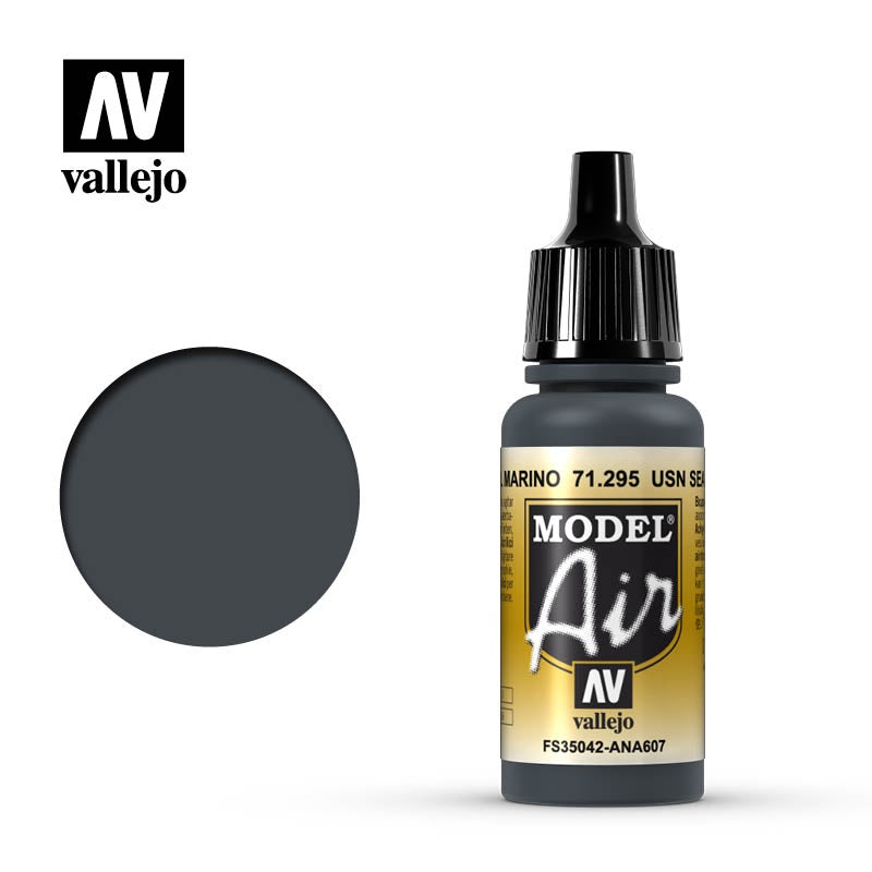 Vallejo Model Air 71.295 USN Sea Blue 17mL