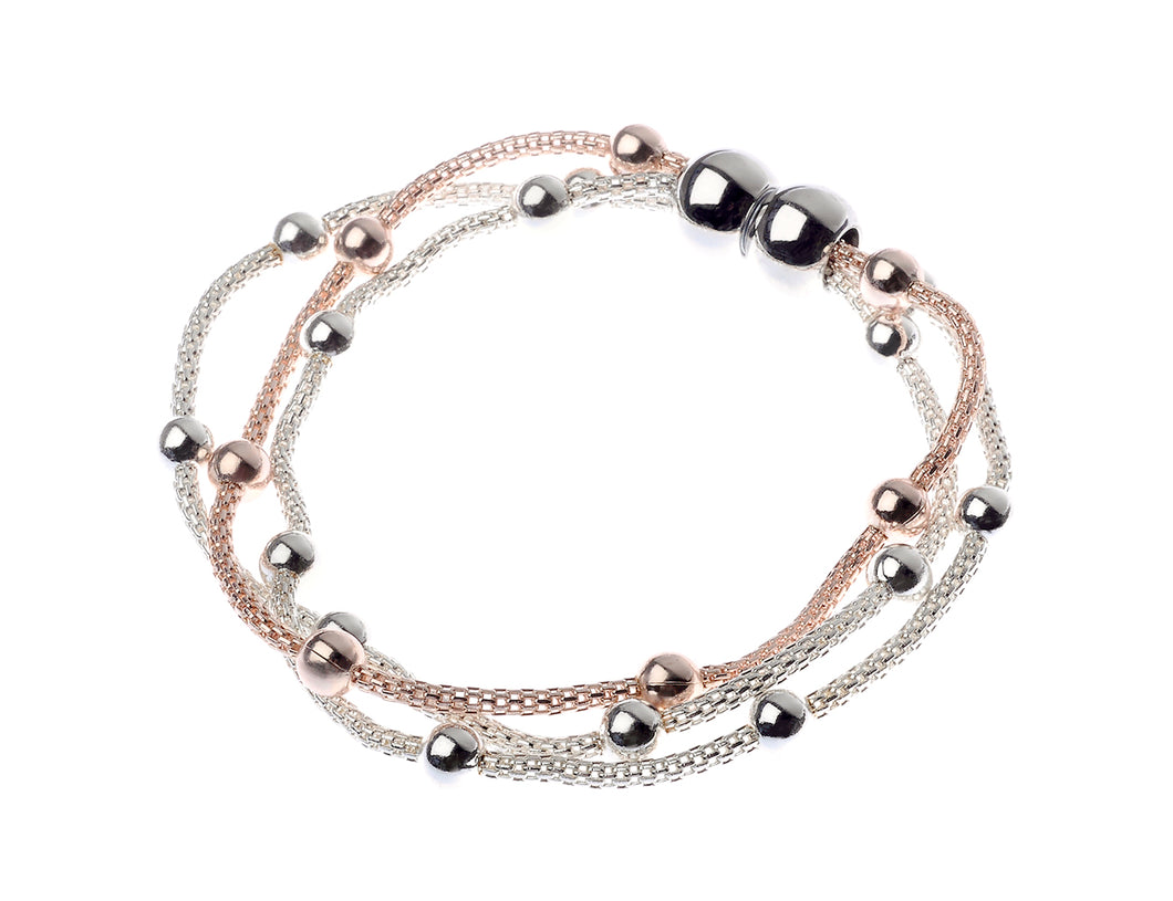 Sonia mixed metal magnetic bracelet