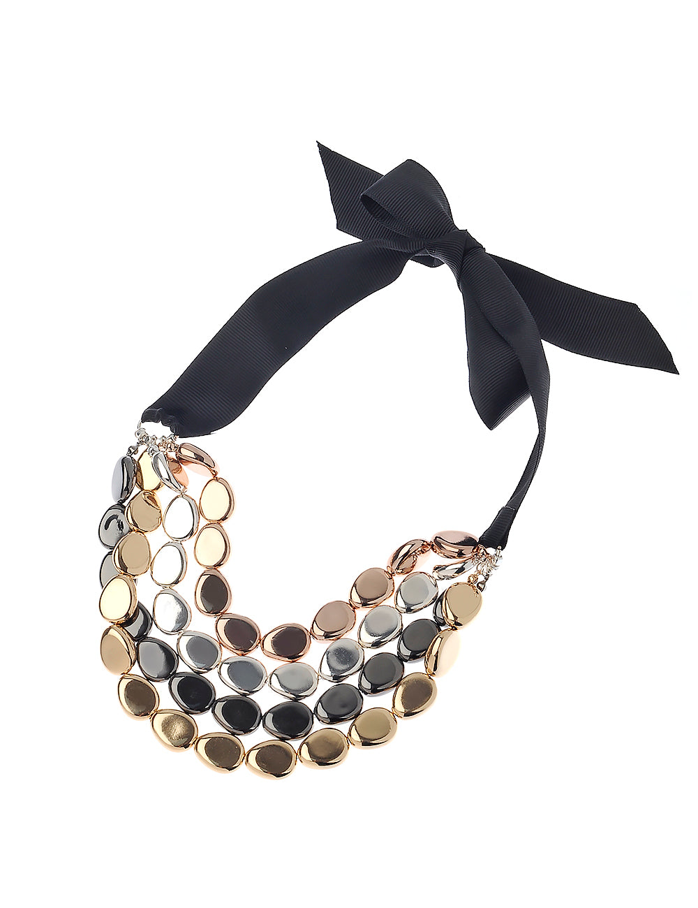 Aria Mixed Metal Statement Necklace