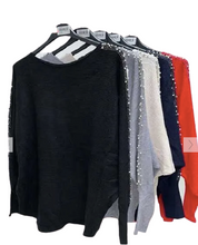 Load image into Gallery viewer, Lara Pearl Detail Sparkly Jumper