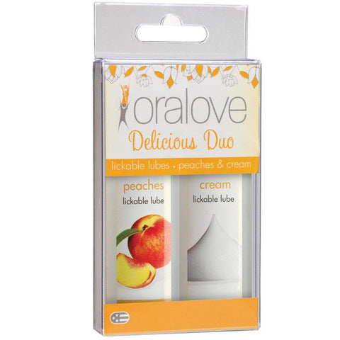 Oralove Delicious Duo Lube - Peaches & Cream - OkGiv