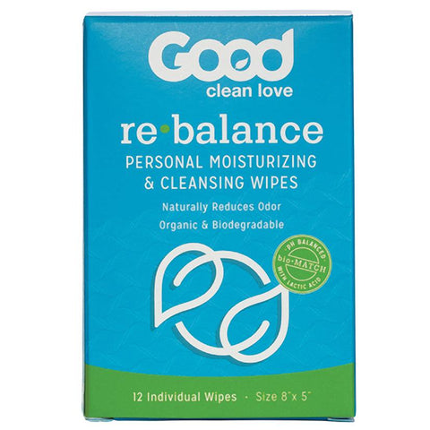 Good Clean Love Rebalance Wipes 12 - Count Box - OkGiv