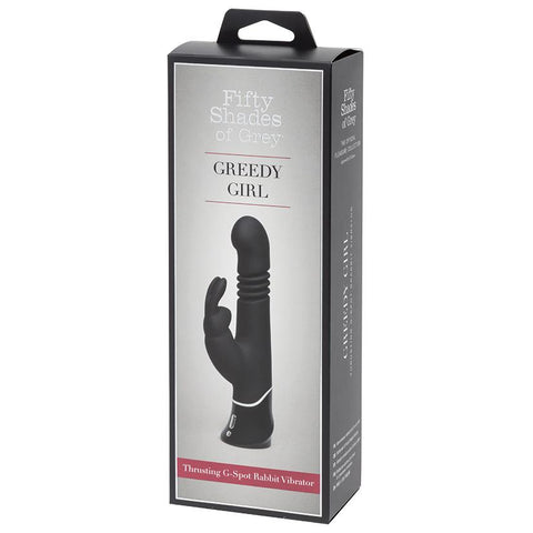 Fifty Shades of Grey Greedy Girl Thrusting G-Spot Rabbit Vibrator - OkGiv