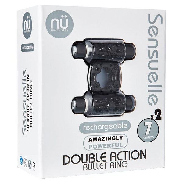 Nu Sensuelle Double Action 7+2 Function Cock Ring - OkGiv