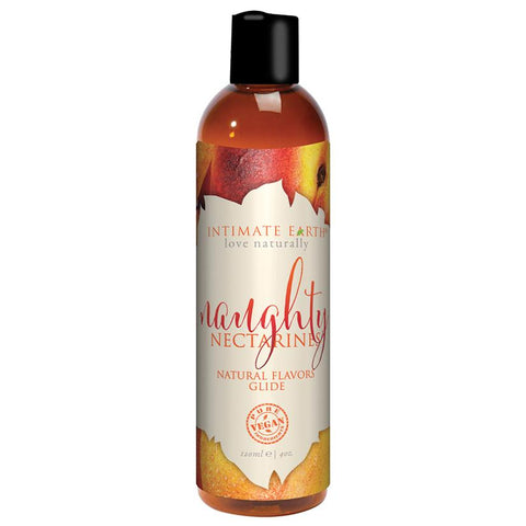 Intimate Earth Oral Pleasure Glide - Naughty Nectarines 4oz - OkGiv
