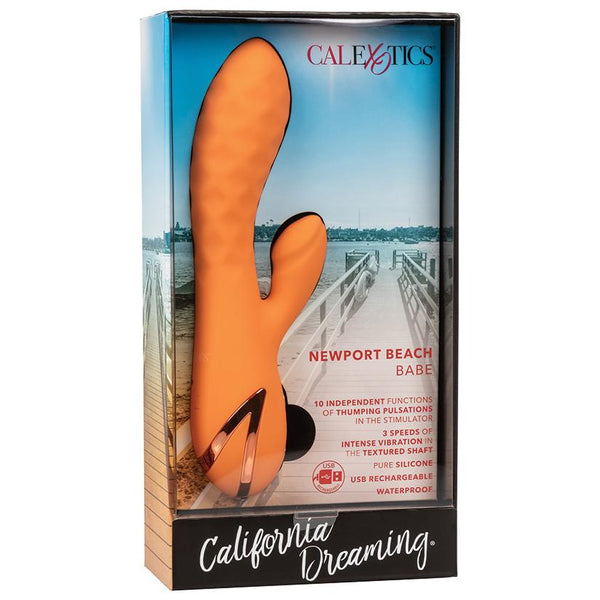 California Dreaming Newport Beach Babe Rabbit Vibrator - OkGiv