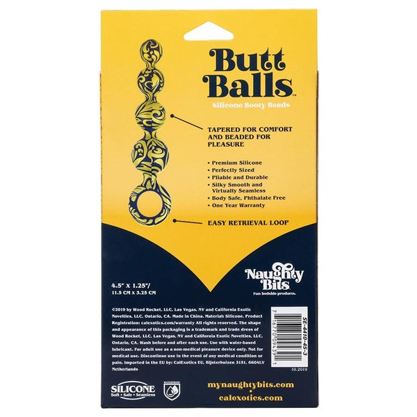 Naughty Bits Butt Balls Silicone Booty Beads - OkGiv