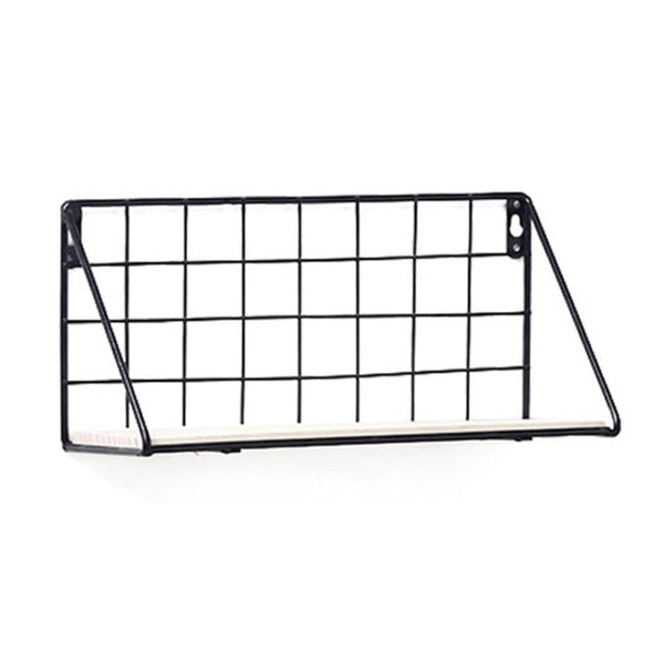 Nordic Wooden Iron Wall Floating Shelf
