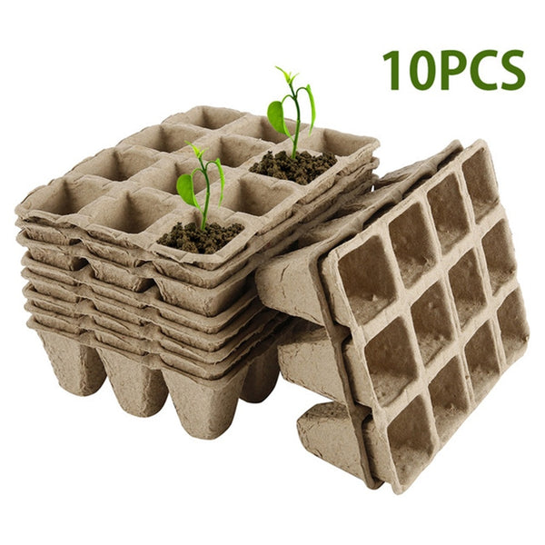 Paper Pulp Seed Growing Tray for Step 2 for Your Seed Growing Stage