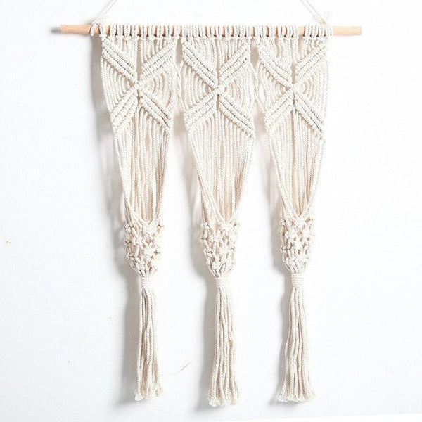 Hot sales 100% handmade macrame plant hanger flower /pot hanger for wall decoration countyard garden Plant Hanger Basket Decor