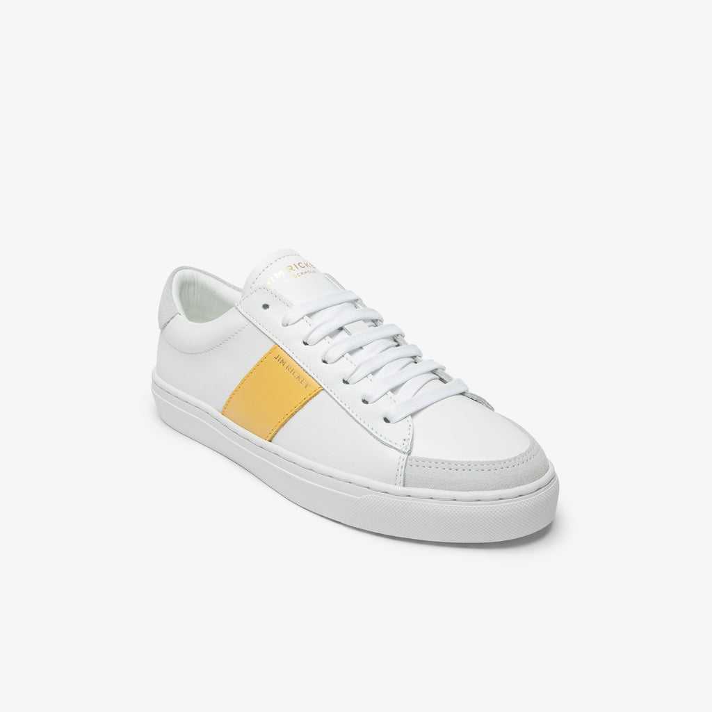 Vision - Leather - White Yellow - Jim Rickey Stockholm