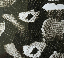 (NEW) ANM037 - Black & Clear Boa (50cm)