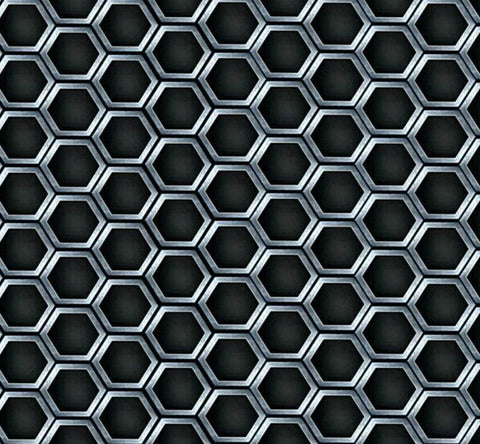 GEM001 - Black Hexagons (100cm)