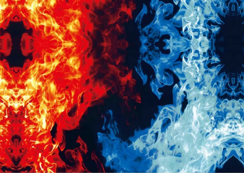 (NEW) FLM041 - Red & Blue Flames (50cm)